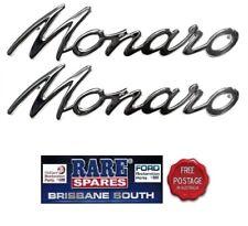 """Holden Badge """"Monaro"""" Chrome HK HT HG"""