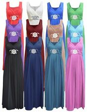 Womens Buckle Date Maxi Long Ladies Bridesmaid Party Cocktail Evening Prom Dress