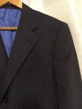 Mens Ermenegildo Zegna Suit Jacket Sz. 40 Short. Charcoal Blue Pinstripe