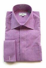 "Modena Men's ""Purple"" French cuff dress shirt (Neck: 15.5 -  Sleeve: 34/35)"