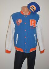 5d98c3b42207 New Reebok Pump Varsity Jacket Blue Orange Medium Hat Snapback Classic Lot  RARE