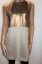 AUGUST ST Brand Bronze Knitted Sleeveless 'Amelia' Tunic Dress Size M BNWT #TS65