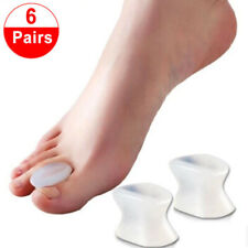 12x Silicone Gel Soft Toe Separator Spacer Straightener Relief Foot Bunion Pain