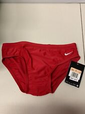 NIKE PERFORMANCE Mens Nylon Competition Core Solid Swim Briefs Size 26 $40 -NWT