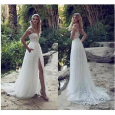 A Line Lace Wedding Dresses Illusion Bodice Court Train Bridal Gown Custom Size