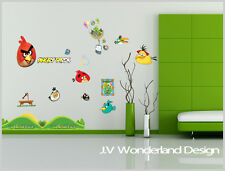 New Angry Birds Large Wall Deco Vinyl Sticker DIY Removable Art Mural kid paper