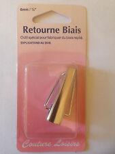 APPAREIL A BIAIS RETOURNE BIAIS POUR FABRIQUER DU BIAIS REPLIE 6mm