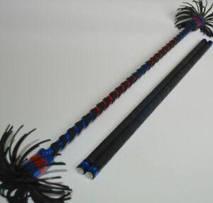 Alu Flowerstick blau/rot Devilstick Flower Devil Stick Sticks Stix Jonglierstäbe
