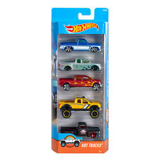Hot Wheels HOT TRUCKS 1:64 Scale Diecast Vehicle 5-Pack Cars (DJD28) Mattel