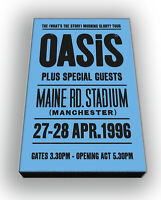 Oasis - Maine Road Concert - Wall Canvas Picture Print Wall Art 63cm x 40cm