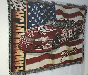 NASCAR Dale Earnhardt Jr #8 Northwest Company Woven Throw Blanket USED Cleaned