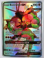 Buzzwole GX SHINY FULL ART SECRET ULTRA RARE SV68/SV94 Pokemon SM Hidden Fates