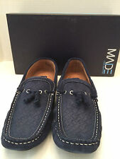 MADE CAM NEWTON Navy Blue Suede Leather Drivers Slip On Loafers Mens Sz 10 NIB