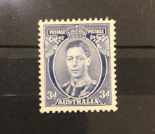 AUSTRALIA-1937-KGVI-3d-WHITE WATTLES MUH DIE II freepost