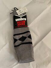 Vtg 80s New Umbro Mens 9-11 FOOTBALL Soccer Socks MADE IN UK RARE 1980's NOS
