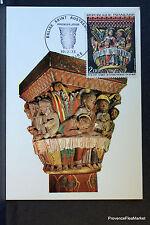 AUSTREMOINE ISSOIRE 1973 CARTE MAXIMUM FRANCE Premier Jour 1° FDC Yt 1741c