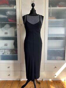 Kookai Black Fitted Midi Dress Size 1 (UK 8/10)