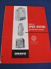 1950's DRAVO Space Heaters Catalog Asbestos History