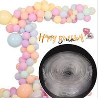 5M Transparent White Balloon Strip Connect Chain Tape DIY Party Decor Supplies