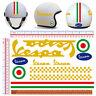 Vespa pvc oro adesivi casco strisce italia flag sticker helmet cropped 11 pz.