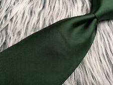 NEW STEFANO CORSINI TIE RACK MEN'S SOLID GREEN 100% SILK MADE IN ITALY TIE