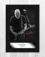 David Gilmour (2) A4 reproduction signed photograph poster. Choice of frame.