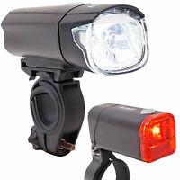 bemiX LED Fahrrad Beleuchtung Set 40 LUX StVZO Scheinwerfer Rücklicht Lampe