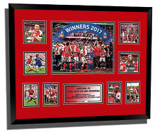 ARSENAL FC SANCHEZ 2017 FA CUP WINNERS SIGNED LIMITED EDITION FRAMED MEMORABILIA