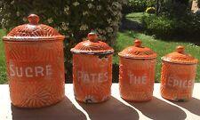 Pots à épices en tôle émaillée Vintage Enamelware Enamel superbe signé DUCO BGB