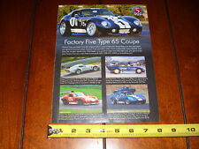 FACTORY FIVE TYPE 65 COUPE SHELBY - ORIGINAL AD