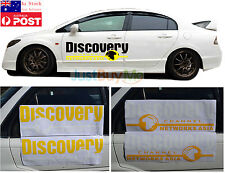 White Yellow Discovery Sign Vinyl Graphics Car Door Side Protector Sticker 70cm