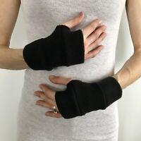 Short Fleece Gloves Winter Hand Warmers Fingerless Mens Hand Soft Warm Womens