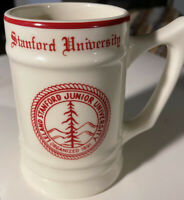 Vintage Beer Mug Stein Leland Stanford Junior University Red Rim 16 oz USA