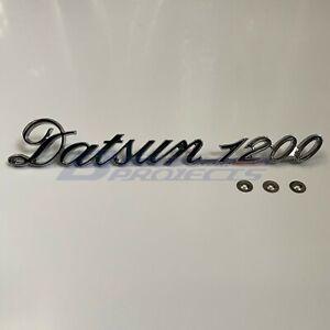 DATSUN 1200 Trunk Lid Emblem Boot Badge Metal (Fits NISSAN B110 B120 B122 Ute)
