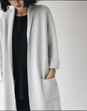 NWT Eileen Fisher Bone Kimono Silk / Organic Cotton Coat Size XL MSRP $448