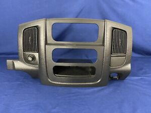 2002 2003 2004 2005 DODGE RAM 1500 2500 RADIO CLIMATE DASH BEZEL NICE OEM