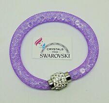 Bracciale da donna o ragazza con cristalli swarovski R chiusura magnetica