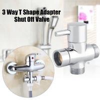3 Wege T Form Umsteller Absperrventil Dusche Toilette Sprayer Wasser Adapter