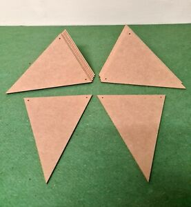 Triangle Bunting Craft Blank Flag Shape Wooden MDF 100mm - 2 Thickness Options