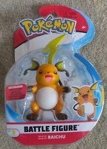 🌩 Pokemon Battle Figure Raichu Articulated Scaled Battle Ready - NEW