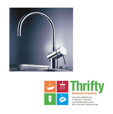 New Dorf Neo Gooseneck Sink Mixer 3642.044A Chrome on Brass RRP $520