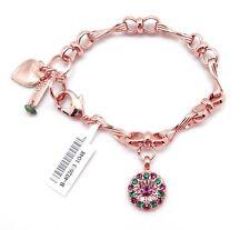 "MARIANA 1048 ""Tigris"" Guardian Angel Amethyst Swarovski Rose Gold Bracelet 7-8"""