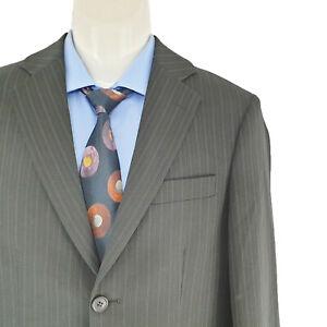 Ben Sherman Ukraine Men's 2 Pieces Suit Black Pin Striped Sz AU/US 36R SU05