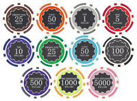 New Bulk Lot of 200 Eclipse 14g Clay Poker Chips - Pick Denominations!