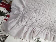 PiuBelle Shabby Cottage French Light Gray Matelasse Ruffled Euro Pillow SHAM