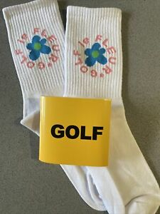 Tyler the Creator Golf Wang Golf Le Fleur Odd Future White Unisex Socks-NWT