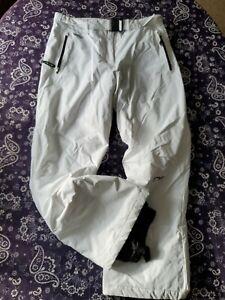 Spyder Ladies Insulated Ski Snow Snowboard Pants Womens Size 14 Large White EUC