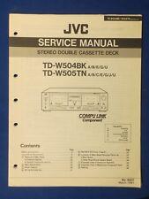 JVC TD-W504BK TD-W505TN Cassette Service Manual Factory Original The Real Thing