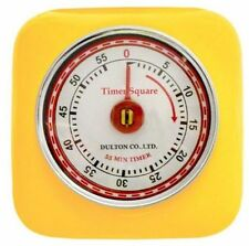 Brand New Dulton Industrial Retro Magnetic Kitchen Timer- Yellow