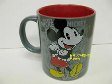 Disney MICKEY MOUSE Coffee CUP MUG Character TEA Milk GRAY & RED NEW